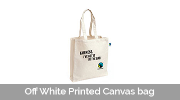 Off White Printed Canvas bag