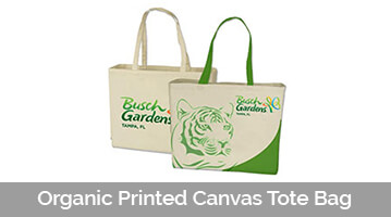 Organic Printed Canvas Tote Bag