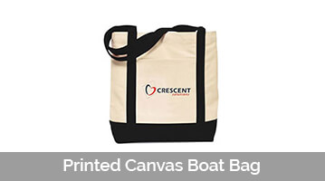 Printed Canvas Boat Bag