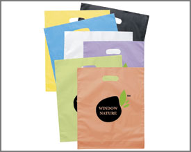 D Cut plastic shopping bags
